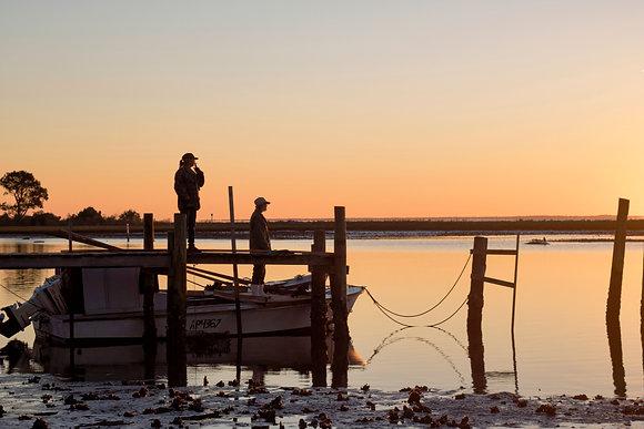 Oystermen at Sunrise