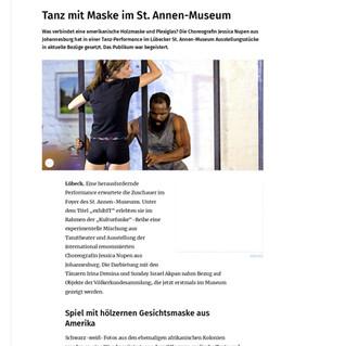 """""""exhibIT"""" in Lübecker Nachrichten"""