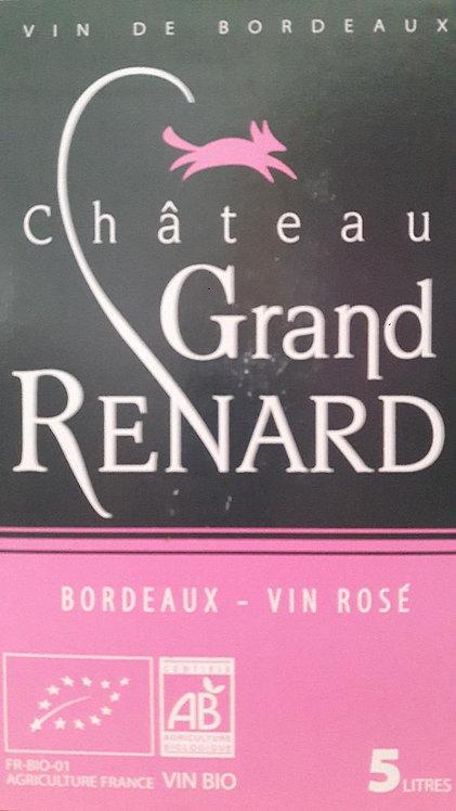 BIB GRAND RENARD bio rosé - Bordeaux AOC 5 litres