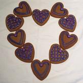 Lavendar Heart Cookie