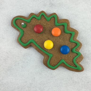 Dino Gingerbread Cookie