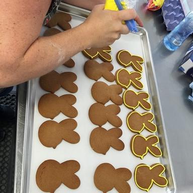 Edgar Bee Cookie Making