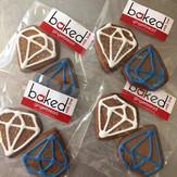 Gingerbread Diamond Cookies