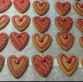 Heart Gingerbread Cookies