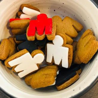 Mini M-Dot Cookies