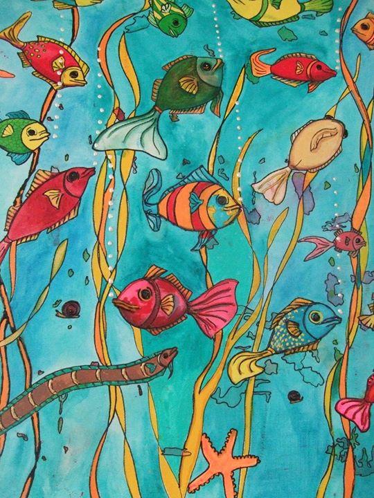 Fish Triptych Panel 2