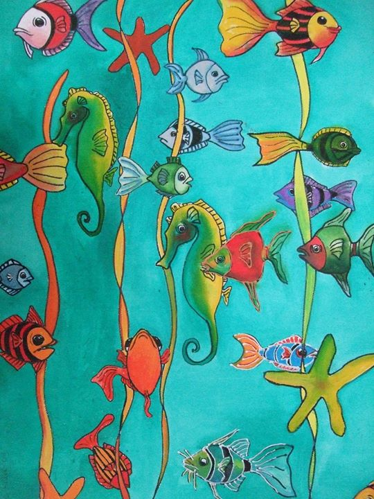 Fish Triptych Panel 1