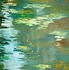 Flowing oil on canvas 1mx45cm  acrylic o