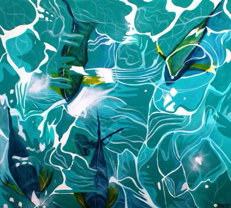 yellow fins blue fish