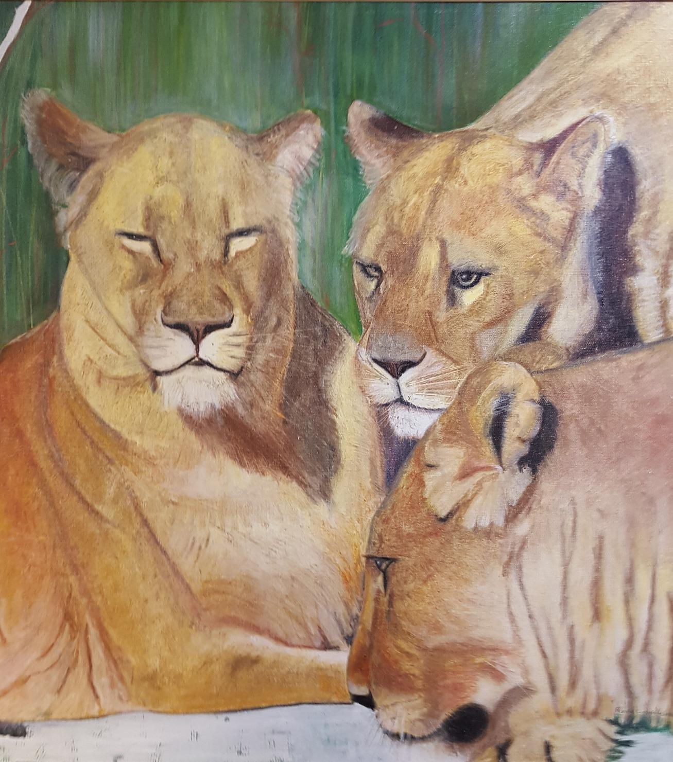 Lionesses in Winter