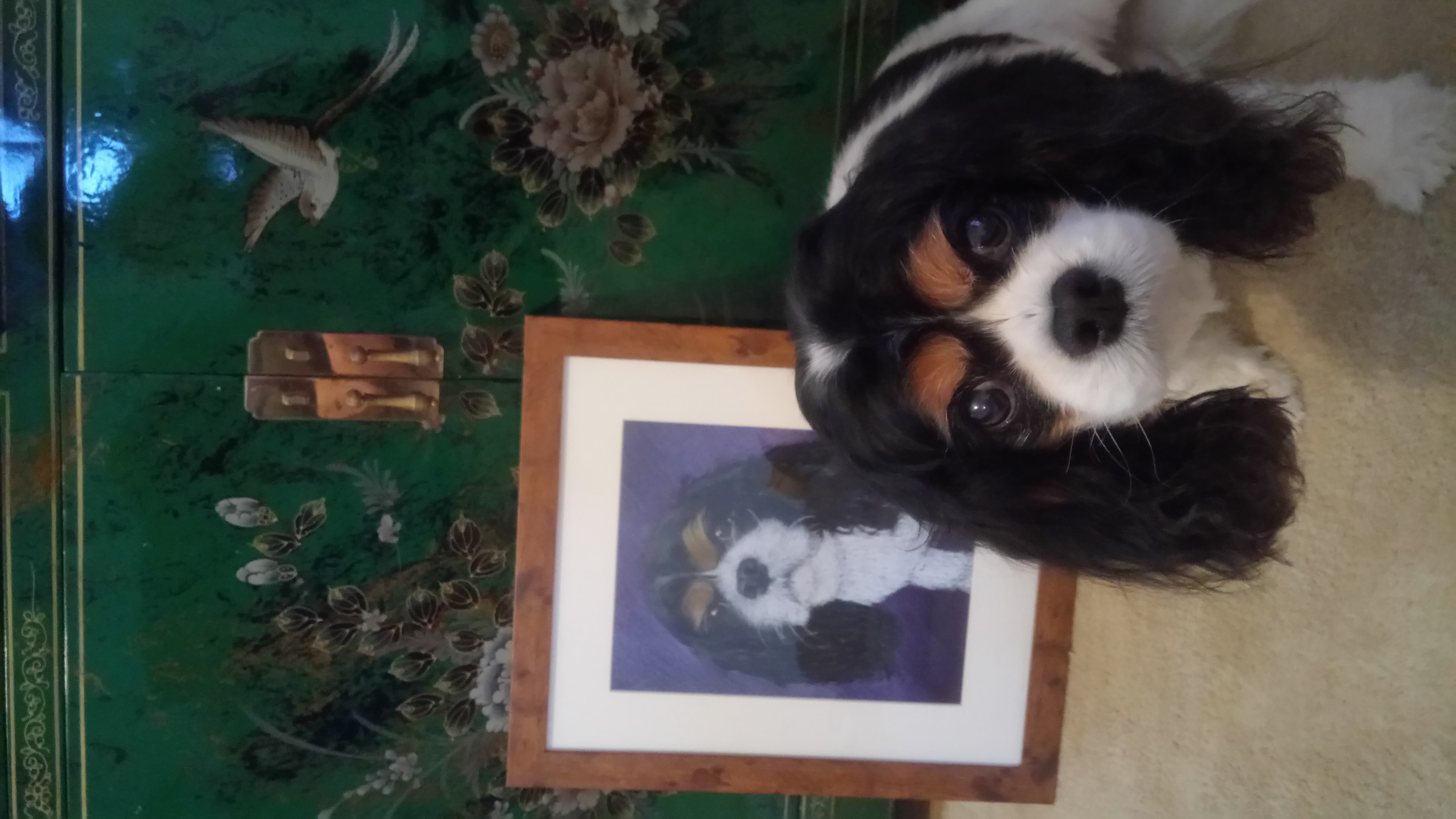 Topsy and her portrait