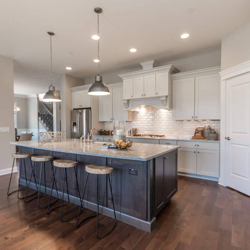 Contrasting cabinets kitchen island