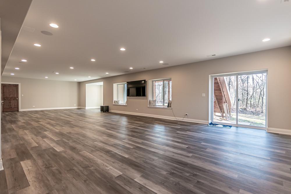 1,400 square foot basement remodel