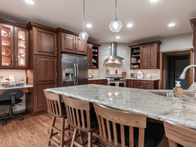 Outdated Kitchen & Master Bathroom Get a Warm Makeover