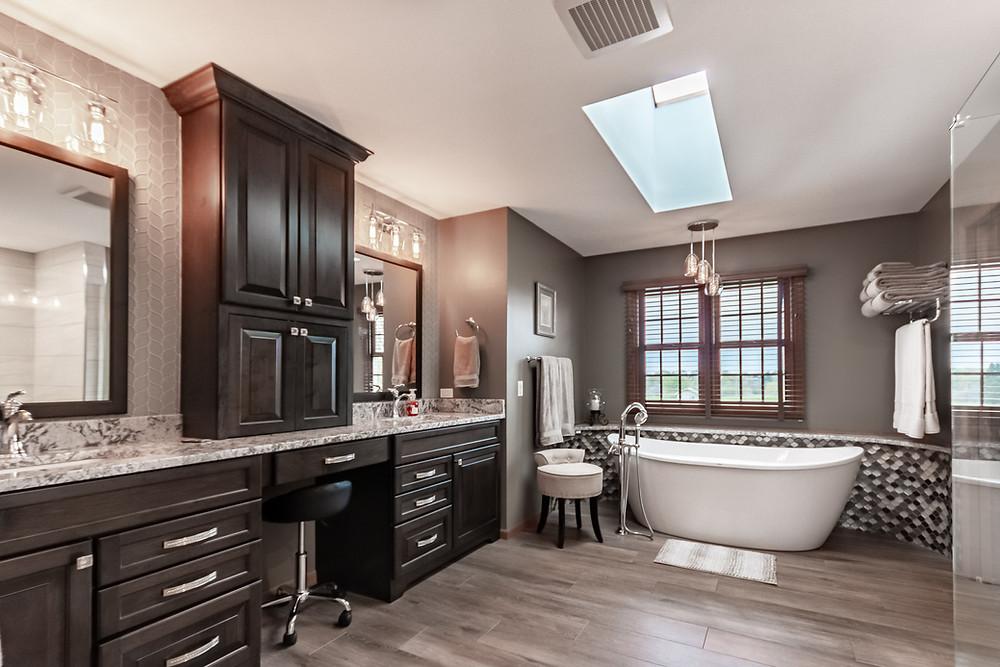 New master bathroom design by KLM Kitchens Baths Floors