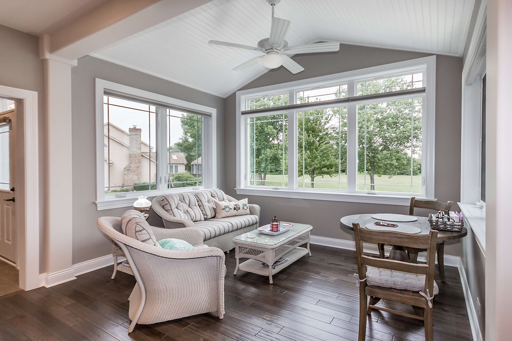 Neutral Colors in Sun Room