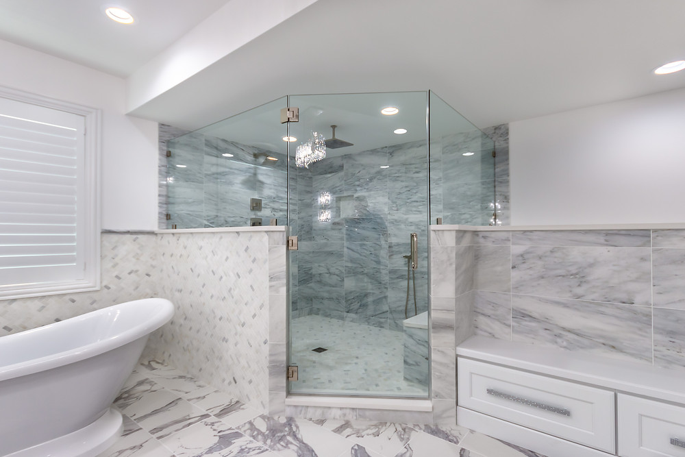 basement walk-in shower design