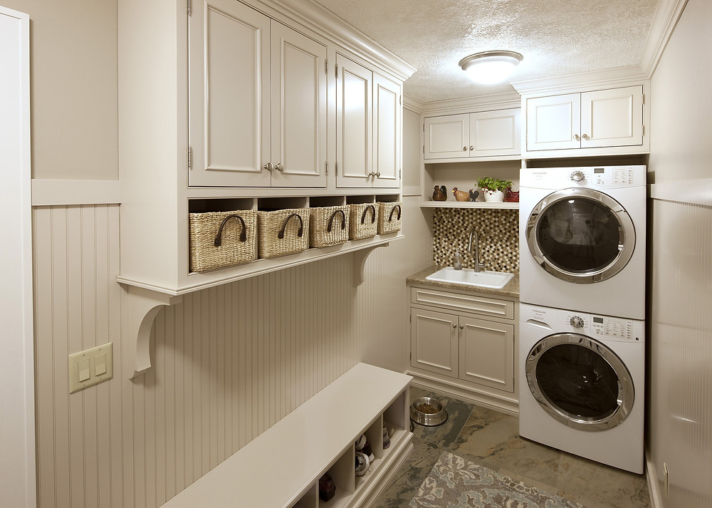 Mudroom Storage and Laundry Room