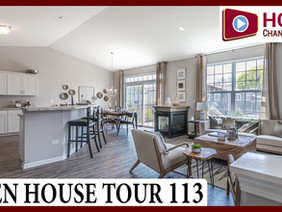 Open House Tour 113 - Touring 3 Ranch Townhomes in Bolingbrook IL by Hartz Homes