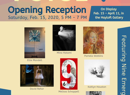 Opening Reception for the New Voice: Emerging Artists Exhibit, Feb. 15, at 5 PM