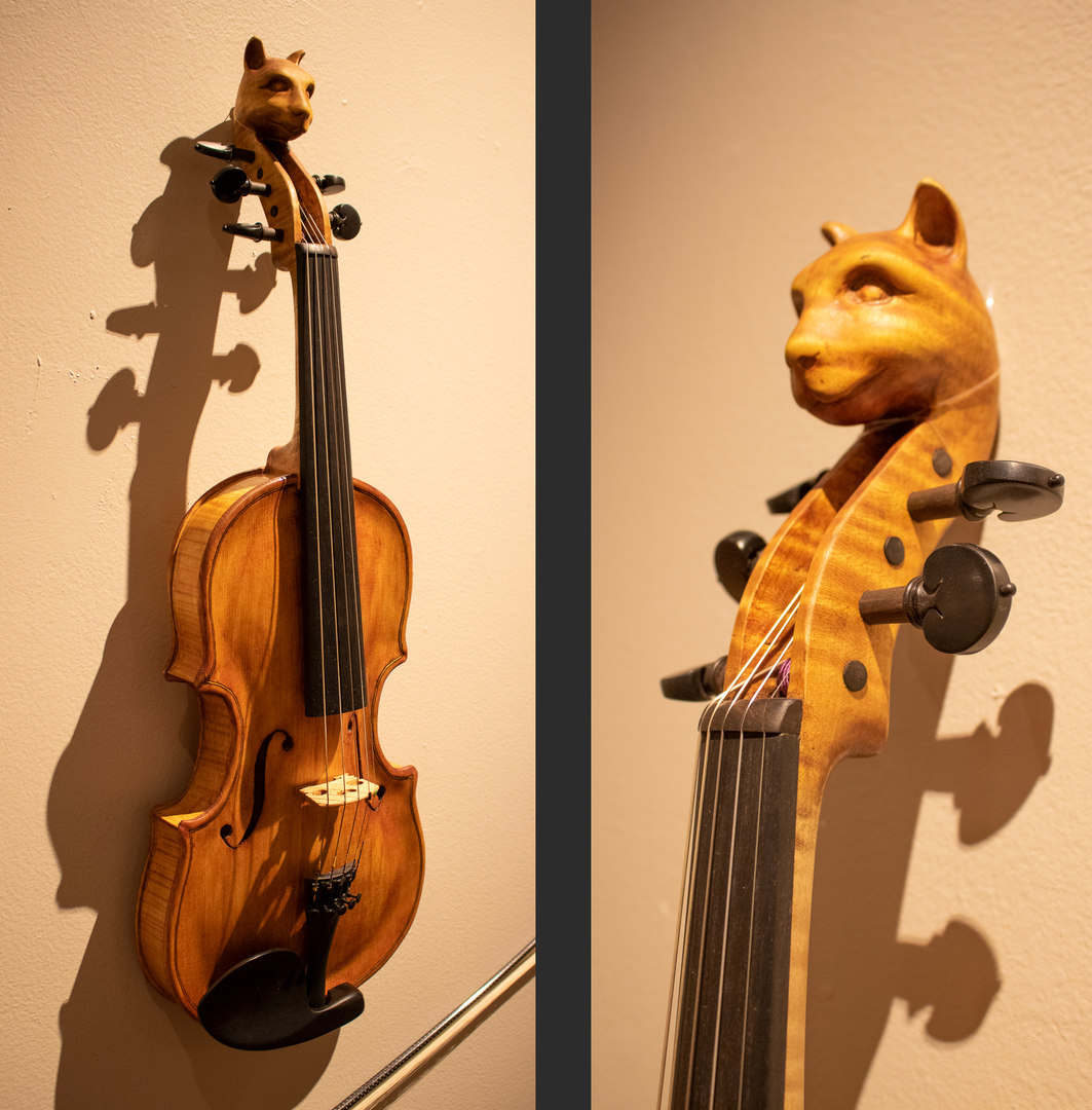 Cat Head 5 String by Roger Vest & Ernest Bryant