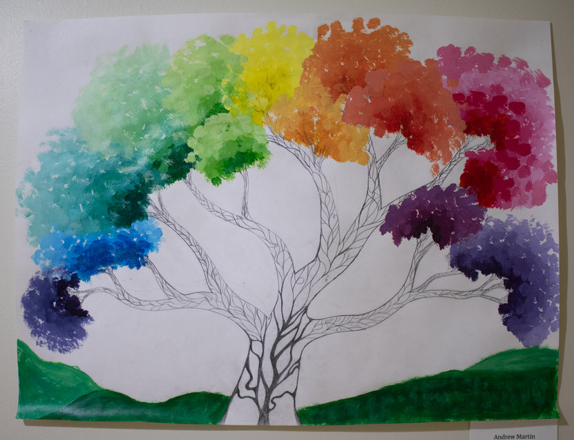 """""""Colorwheel Tree"""" by Andrew Martin"""