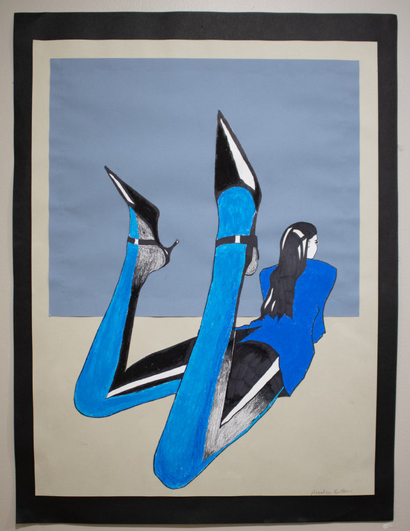"""Lady in Blue"" by Annalise Britton"