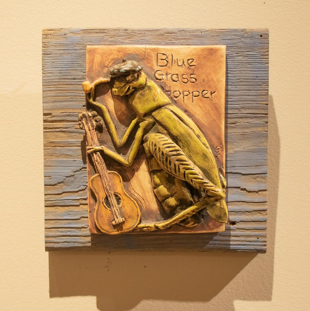 Blue Grass Hopper by Kathleen Dawe