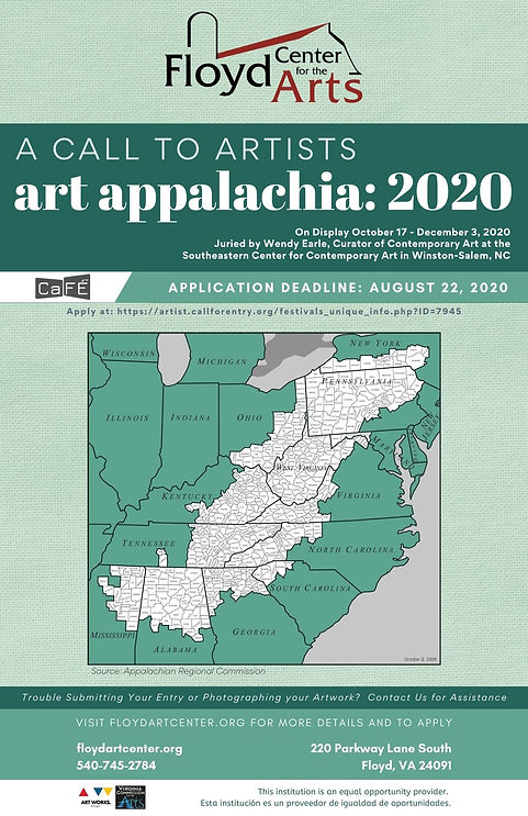 Copy of Copy of Art Appalachia 2020 Call