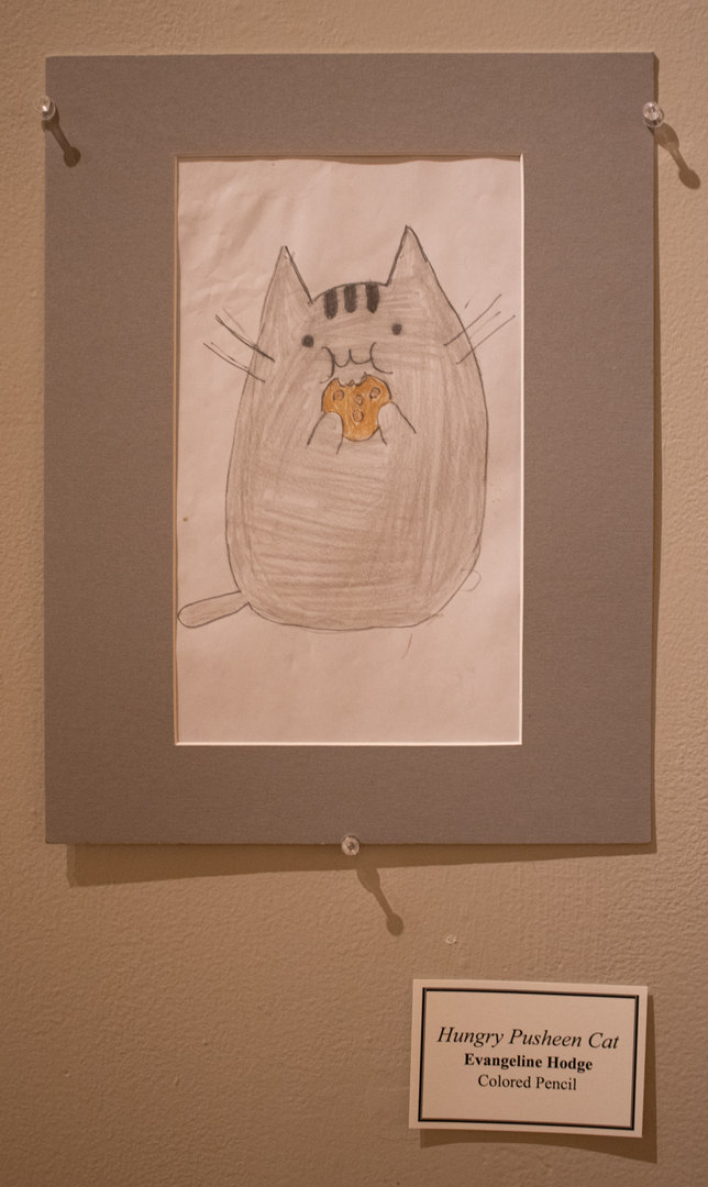 Hungry Pusheen Cat by Evangeline Hodge