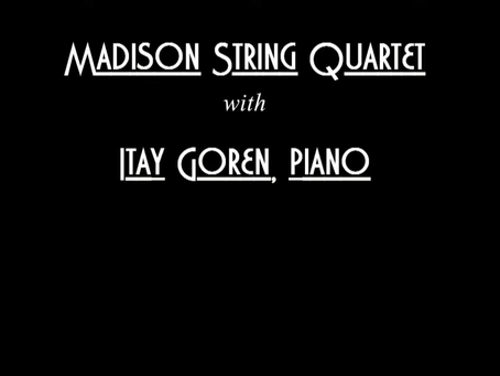 Video: The Madison String Quartet Performs Schumann - Piano Quintet