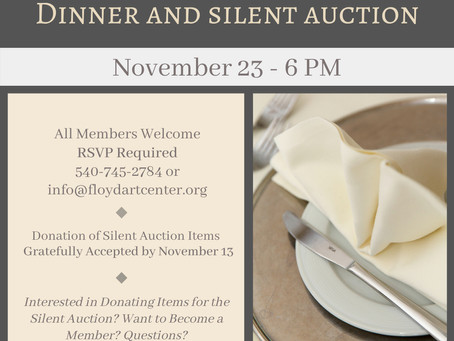 Membership Meeting, Dinner, and Silent Auction