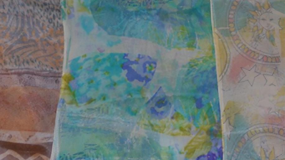 Transfer Dyeing - Decorate Silk Scarves using Silk Garments & More (FIB-101720)