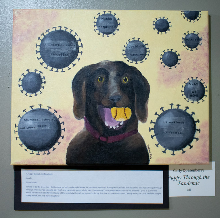 """""""Puppy Through the Pandemic"""" by Carly Quesenberry"""