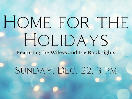 Concert this December: Home for the Holidays
