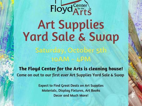 Art Supplies Yard Sale & Swap