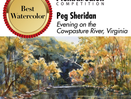 Celebrating Plein Air Accomplishments by Peg Sheridan