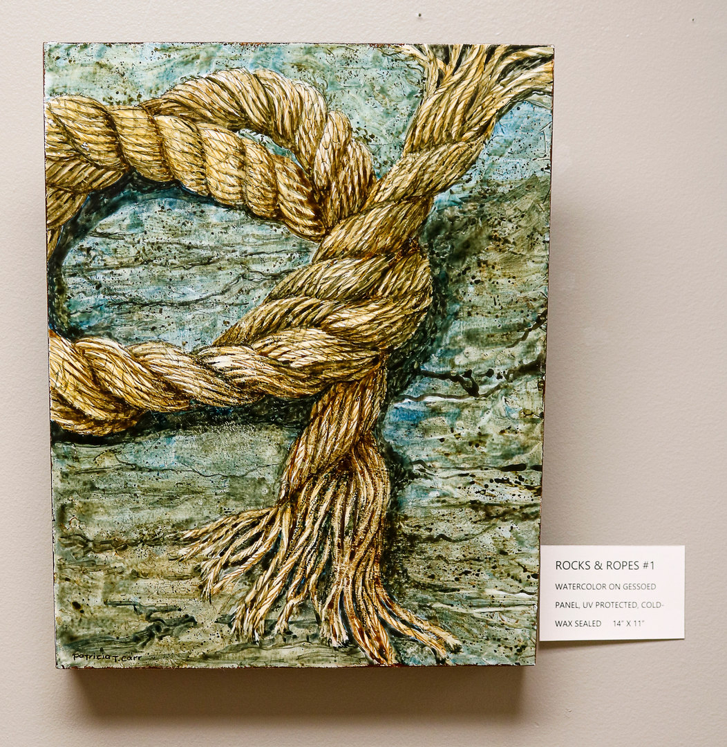 Rocks and Ropes #1 by Patricia Carr