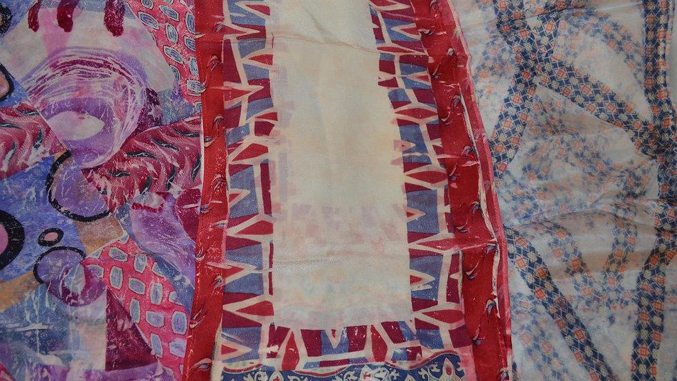 Transfer Dyeing - Decorate Silk Scarves using Men's Ties - 9/30/20 (FIB-093020)