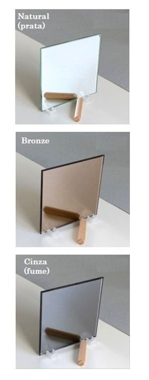 Espelhos cinza fume, bronze