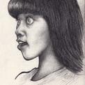 Caricature jeune femme