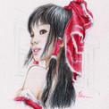 Asiatique au foulard rouge