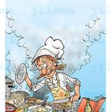 """Livre """"La cuisine illustrée"""" de chez La Sirène."""