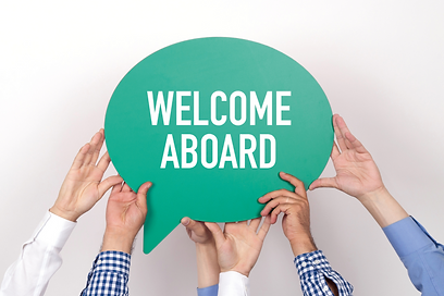 """Sign of """"Welcome Aboard"""""""