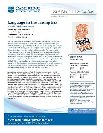Language in Trump Era discount flyer til