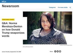 Q&A: Norma Mendoza-Denton on how Donald Trump weaponizes words