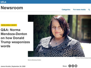 Q&A: Norma Mendoza-Denton on how Donald Trump weaponizes words