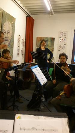 Repetitie bij het Spectra Ensemble