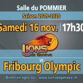 Lions de Genève - Match 16/11/2019