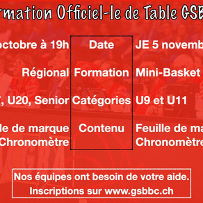 FORMATION OFFICIEL-LE DE TABLE